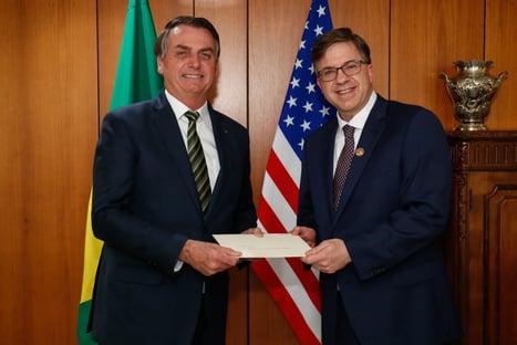 """Embaixador dos EUA diz que, com governo Bolsonaro, """"as portas abriram"""""""
