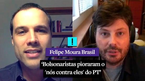 """""""Bolsonaristas pioraram o nós contra eles do PT"""", diz Danilo Gentili"""