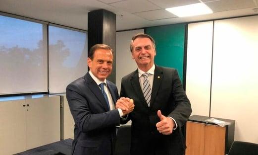 O detalhe que separa Bolsonaro e Doria