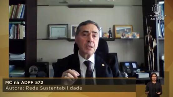 Barroso vota pela remessa das ações de Lula para Brasília