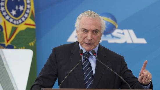 """Temer: """"Não vou ser candidato ao Planalto"""""""