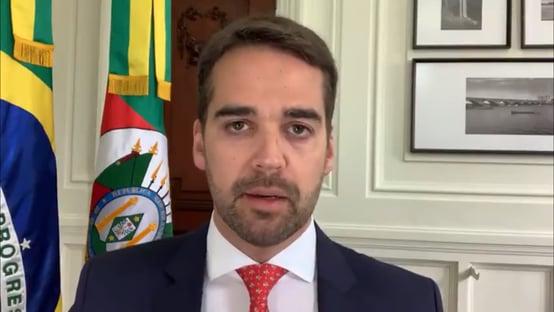 """""""Vamos iniciar ainda hoje o processo de imunização"""", diz Eduardo Leite"""
