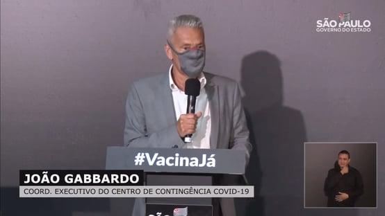 Início de vacinação em SP continua previsto para 25 de janeiro, diz Gabbardo