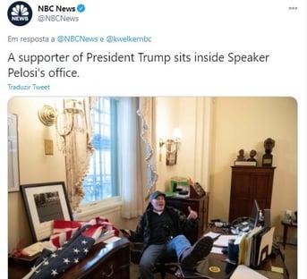 Vandalismo no gabinete de Pelosi