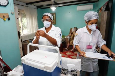 Saúde garantiu vacinas para apenas 65% da população