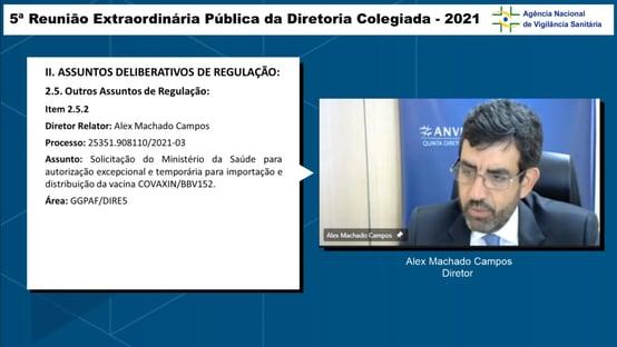 0x1: diretor da Anvisa vota contra pedido de importação da Covaxin