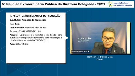 0x2: diretor da Anvisa vota contra pedido de importação da Covaxin