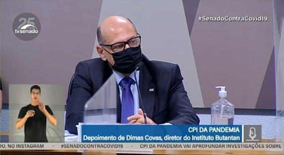 """""""É uma boa pergunta"""", diz Dimas Covas, sobre resistência do governo Bolsonaro à Coronavac"""