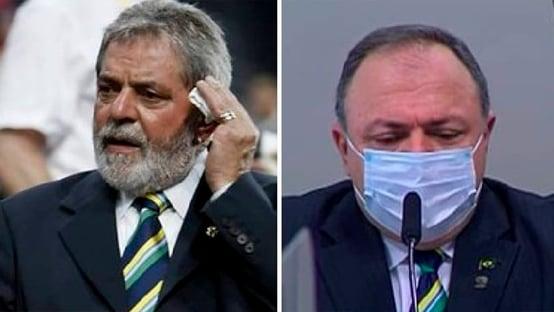 Pazuello com gravata de Lula