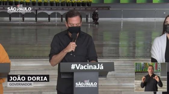 Doria antecipa meta para vacinar adultos em SP até 15 de setembro