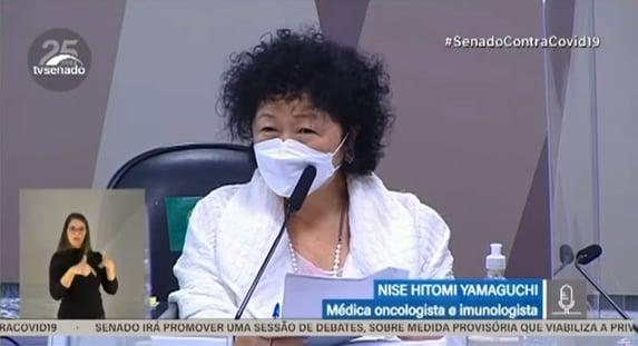 Nise diz que Saúde deveria dar mais importância a tratamentos de primeiros sintomas da Covid