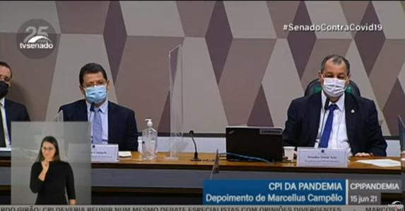"""Aziz: """"Governo tem que ver quando está do lado do ministro Barroso e quando está contra"""""""