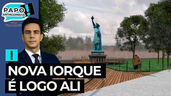 Bolsonarista quer ajuda do 'Véio da Havan' para construir 'Estátua da Liberdade'