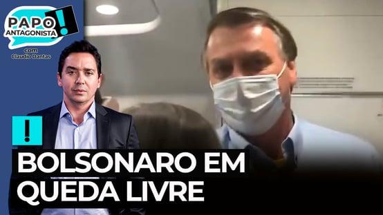 Bolsonaro entra em voo para testar popularidade e quebra a cara