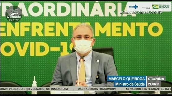 Queiroga diz que toda a população será imunizada com a primeira dose até setembro