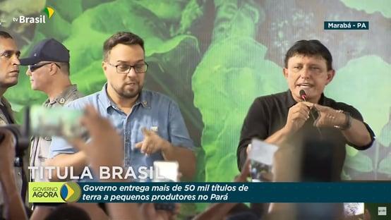 Em evento presidencial, Éder Mauro convida multidão a pedir prisão de Helder Barbalho