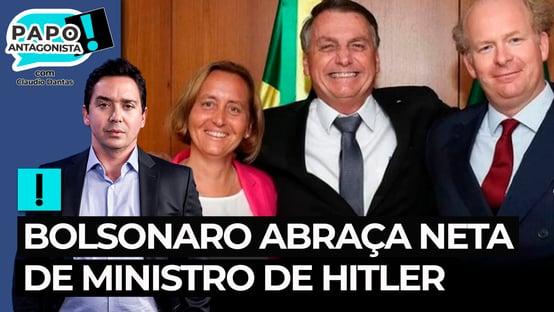 Bolsonaro abraça neta de ministro de Hitler
