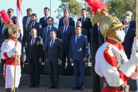 Mourão participa de evento com Bolsonaro e ministros pela primeira vez no ano