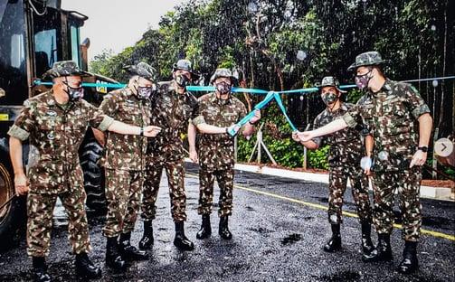 Exército inaugura até via de acesso