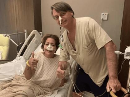 Michelle publica foto de Bolsonaro no hospital: custoso demais