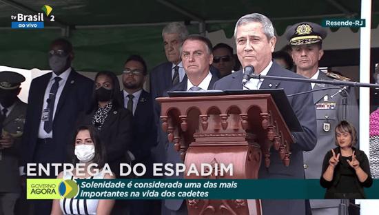 Em discurso para militares, Braga Netto fala em assegurar harmonia entre Poderes