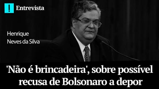 Não é brincadeira, diz Neves, sobre possível recusa de Bolsonaro a depor