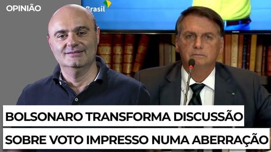 Bolsonaro transforma discussão sobre voto impresso numa aberração