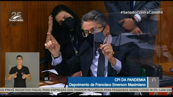 Vieira questiona Maximiano por não responder sobre contratos com o poder público