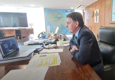"""""""A hora dele vai chegar"""", diz Bolsonaro, sobre Alexandre de Moraes"""