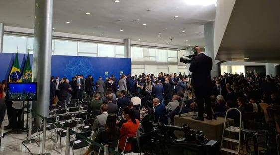 Ministros comparecem em peso à posse de Ciro Nogueira
