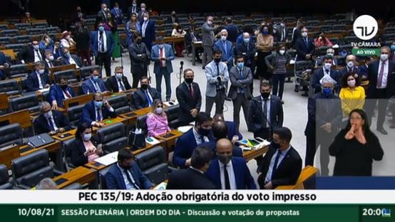 Urgente: Câmara enterra voto impresso