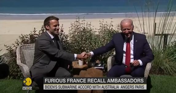 Biden e Macron conversam após crise causada por acordo com Austrália