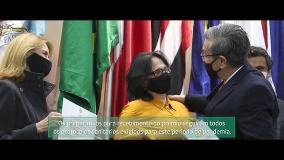Empresa que teria bancado bolsonaristas em protesto recebeu prêmio do ministério de Damares