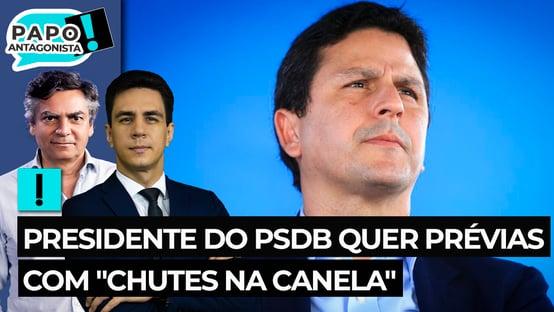 """Presidente do PSDB quer prévias com """"chutes na canela"""""""