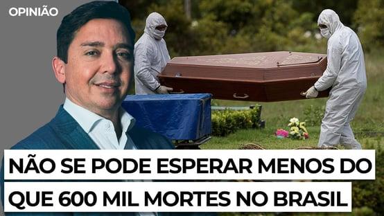 Não se pode esperar menos do que 600 mil mortes no Brasil