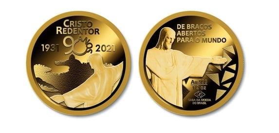 Casa da Moeda lança medalha em homenagem aos 90 anos do Cristo Redentor