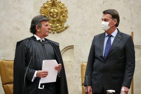 Bolsonaro se reúne com Fux no Supremo