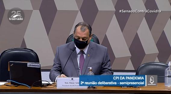 'Não é só o vírus que vai matar brasileiros', diz presidente da CPI da Covid, sobre ataques à China