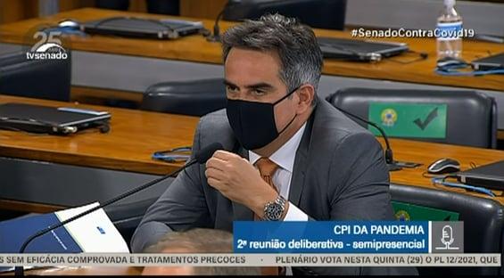 Planos outorgados cheiram a despotismo, diz Ciro Nogueira sobre CPI da Covid
