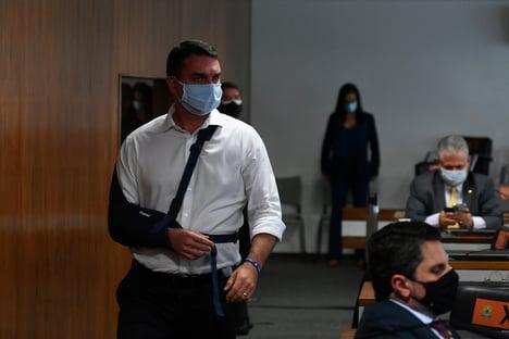 Flávio Bolsonaro vai falar na sessão da CPI da Covid