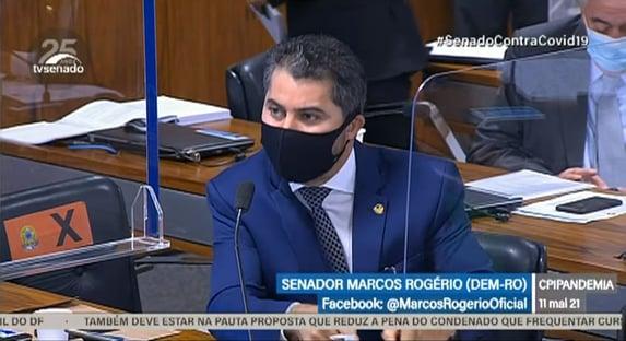 """""""O senhor está cometendo um estupro regimental"""", diz Marcos Rogério a Omar Aziz"""