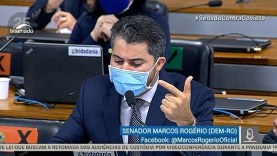 """Marcos Rogério ataca Renan: """"Não se conforma com respostas que não atendem às suas expectativas"""""""