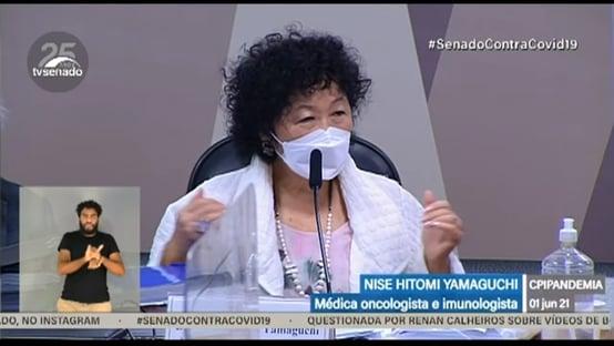 Nise Yamaguchi diz que Bolsonaro pediu dados sobre cloroquina