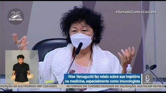 Nise Yamaguchi se nega a comentar declarações e decisões de Bolsonaro