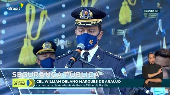 """""""Brasil acima de tudo, Deus acima de todos"""", diz coronel da PM do DF"""