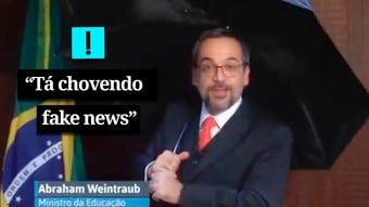 "IMAGEM: Vídeo – ""Tá chovendo fake news"", diz Gene Weintraub Kelly"