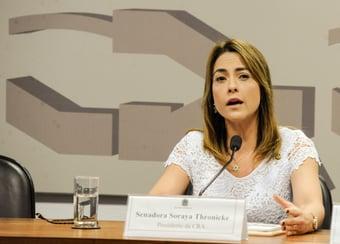 """IMAGEM: CPI da Covid: """"bolsonarista"""" Soraya Thronicke rebate """"independente"""" Girão"""