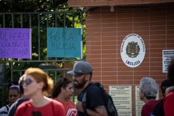 IMAGEM: O cheiro de queimado na embaixada da Venezuela em Brasília