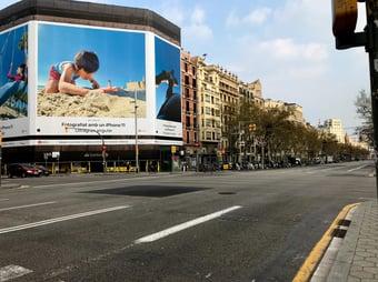 IMAGEM: Barcelona retoma isolamento social