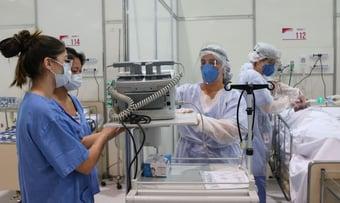 IMAGEM: Hospitais de referência em SP sem novas internações por Covid